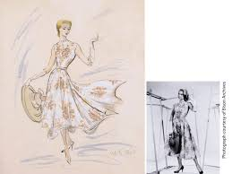 Edith Head Design Sketches Edith Head And Grace Kelly Rear Window 1954 Costumes