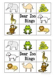 dear zoo book characters dear zoo bingo worksheet free esl printable worksheets made of dear
