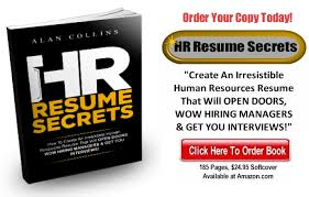 Hr Resume Secrets – Create An Irresistible Human Resources Resume ...