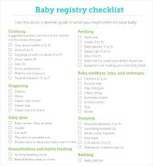 Baby Nursery ~ Checklist For Baby Nursery 8 Registry Samples Sample ...