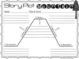 Story Mountain Planner Template Image Result For Storyline Plot Template Talk 4 Writing