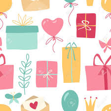 Gifts Background Gift Pattern Seamless Texture With Colorful Illustrations Of