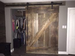 large brown barnwood z pattern barndoor closed