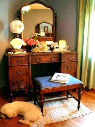 Bedroom Vanity Set With Lights Dresser Vanity Vintage Vanity Set ...