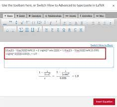 math equation instructions for canvas