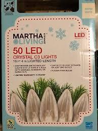martha stewart living 50 led crystal c3 lights warm white brand new 16