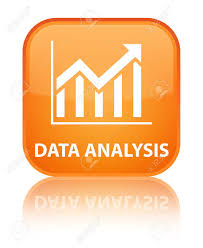 Data Analysis Statistics Icon Orange Square Button Stock Photo