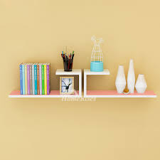 pictures show wooden wall shelves rectangular white