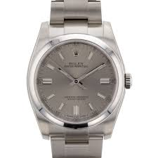 rolex oyster perpetual no date silver dial steel 36mm 116000stio rolex 116000stio