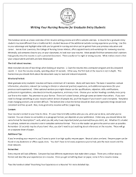 Resume For Graduate Nurse Cover Letter Sample