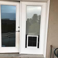 dog door in glass