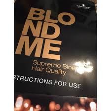 Schwarzkopf Blond Me Colour Chart