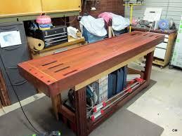 Splayed Leg Red OakcherryDouglas Fir Roubo Work Bench  By Roubo Woodworking Bench
