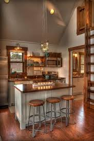 Little kitchen - Leech Lake cabin, MN. Lands End Development - Designers  Builders.
