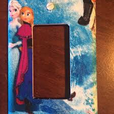 Frozen Light Switch Cover Frozen Disney Light Switch Flicktheswitchart Etsy Com