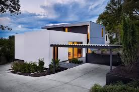Austin Attached Carport Plans Exterior Modern With