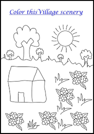 Scenery Without Colour Scenery Coloring Pages Summer Scenery ...