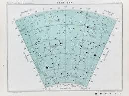 Details About Antique Star Chart Astronomy Print Victorian Colour Lithograph Celestial 64