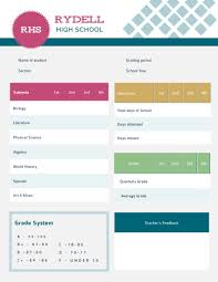 Student Report Card Template Student Report Card Template Visme