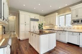 off white cabinets dark floors. antique white kitchen cabinets with dark floors kitchens and off d