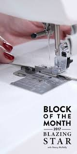 2017 Blazing Star Block of the Month & Learn alongside the quilt designer, Nancy McNally, herself with seven FREE  video lessons in Adamdwight.com