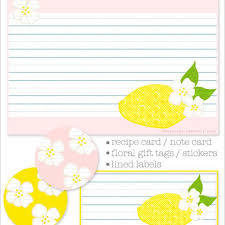 Recipe Labels Templates 9 Free Printable Recipe Card Sets