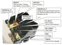 headlight switch wiring chevelle tech description for orange wire is incorrect in pic