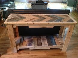 diy pallet sofa table tutorial wood pallet reclaimed sofa table 101 pallets