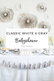 gray baby shower mommy diary