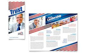Campaign Brochure Political Campaign Tri Fold Brochure Template Design