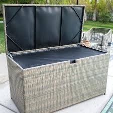 Rubbermaid Deck Box Boxes Exciting Wicker Large Storage And Greenery 5f22 With Seat