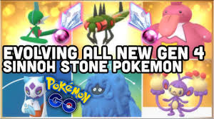 ALL NEW GEN 4 SINNOH STONE EVOLUTIONS IN POKEMON GO | GALLADE YANMEGA  FROSLASS TANGROWTH & MORE - YouTube