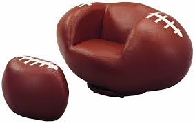 crown mark baseball glove kids faux leather chair and ottoman com