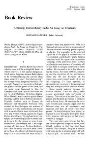 Creativity Essay Pdf Achieving Extraordinary Ends An Essay On Creativity