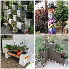Construção de muros verdes com blocos de concreto não exige impermeabilização. Blocos De Concreto Para Decoracao De Jardim Como Fazer Em Casa Decoracao Jardim Jardim De Orquideas Jardim