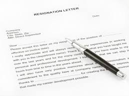 Resign Template Sample Resignation Letter Monster Com