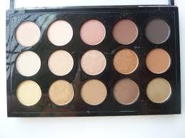 mac eyeshadow x15 warm neutral palette shades