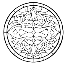 stained glass stepping stone pattern daisy