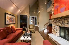 track lighting vaulted ceiling beautiful on interior living room sloped 24 spaces 1