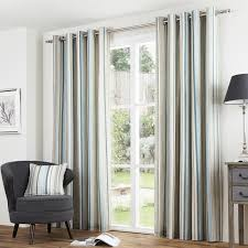 melrose stripe readymade eyelet lined curtains