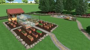 Sample Garden Design with Greenhouse