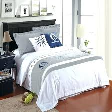 nautical queen bedding set nautical comforters white and grey nautical themed sailing boat print 5 star