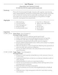 Retail Resume Description Resume For Retail Sample Resume Retail Manager Resume Of Sales