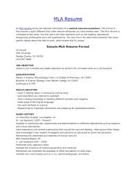 Mla Resume Template Best of Mla Resume Template Format Toreto Co Curriculum Vitae Structure Mla