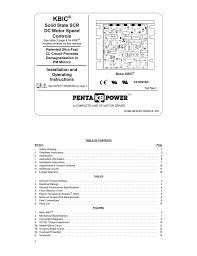 Motor Overload Protection Chart User S Manual For Kbic Chassis Scr Dc Motor Innovative Idm