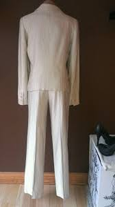 Albert Nipon Size Chart Armani Collezioni Tan Career Pants Suit Size 4 Lz