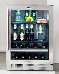 Under Counter Beverage Centers Futuristic Modern Small Beverage Center With Chrome Handle Door