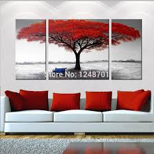 abstract red tree oil painting on canvas large size modern landscape wall art for home decoration hand painted pictures by wuzhongtin dhgate
