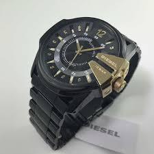 men s black diesel stainless steel watch dz1209