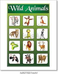 Free Art Print Of Wild Animal Chart